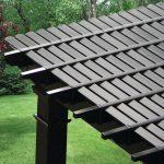 black pergola rafters