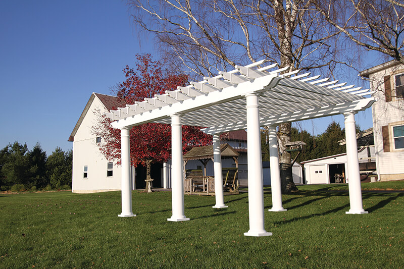 Aluminum and vinyl pergolas superior plastic products for Pergola aluminium x