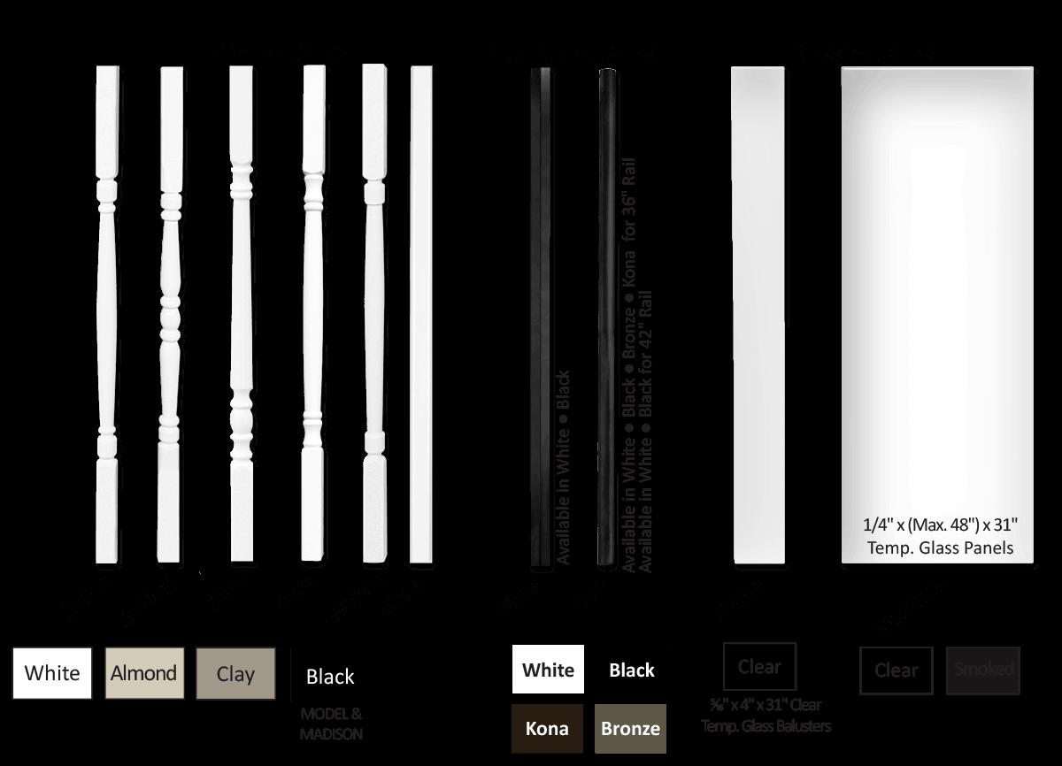 3000 Series Vinyl Railing - Superior Plastic Products - Vinyl Railing Profiles