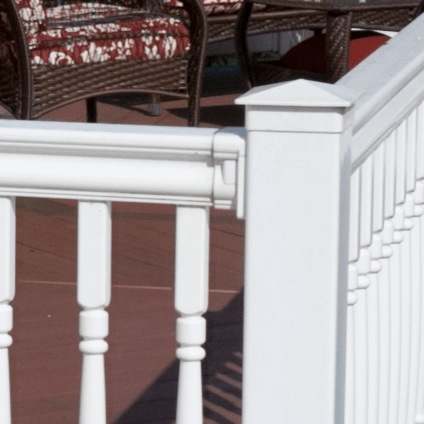 Vinyl Post Caps & Trim - 3000 Series Vinyl Railing - Superior Plastic Products