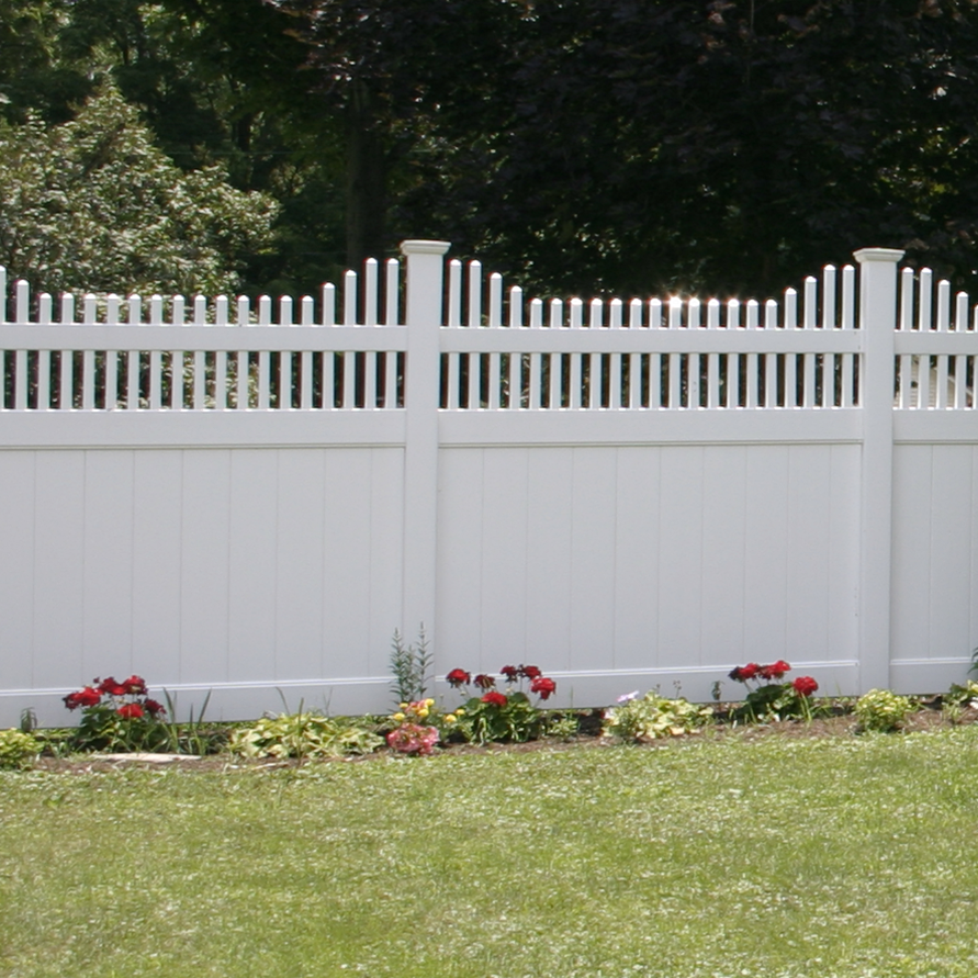 Vinyl Privacy Fencing - Superior Plastic Products, Inc. - Manor Vinyl Privacy Fence - Superior Plastic Products