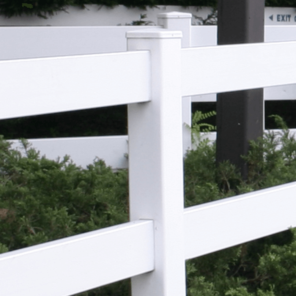 Low Maintenance 2 Rail Vinyl Fence Superior Plastic Products