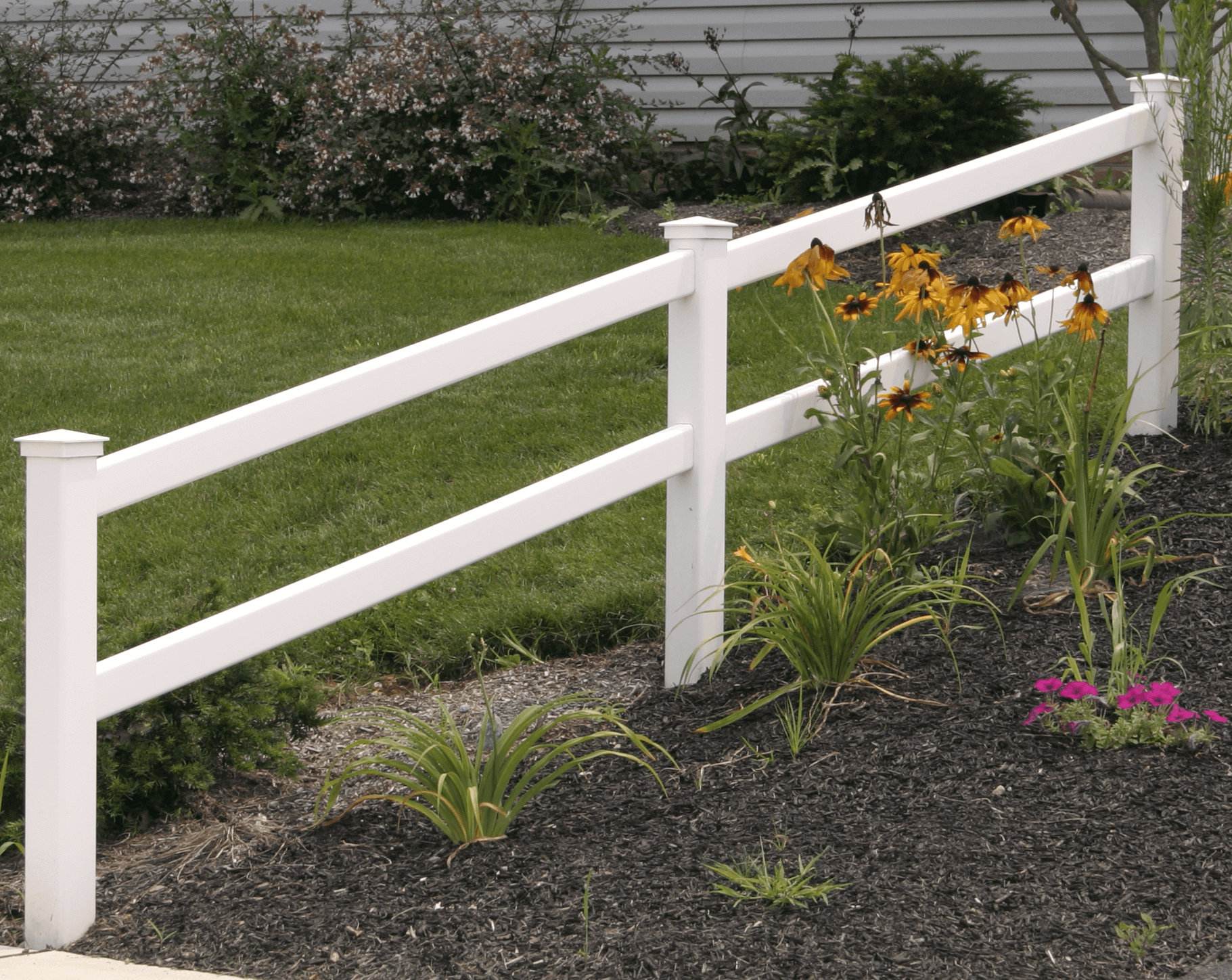 2 Rail Vinyl Fence - Superior Plastic Products
