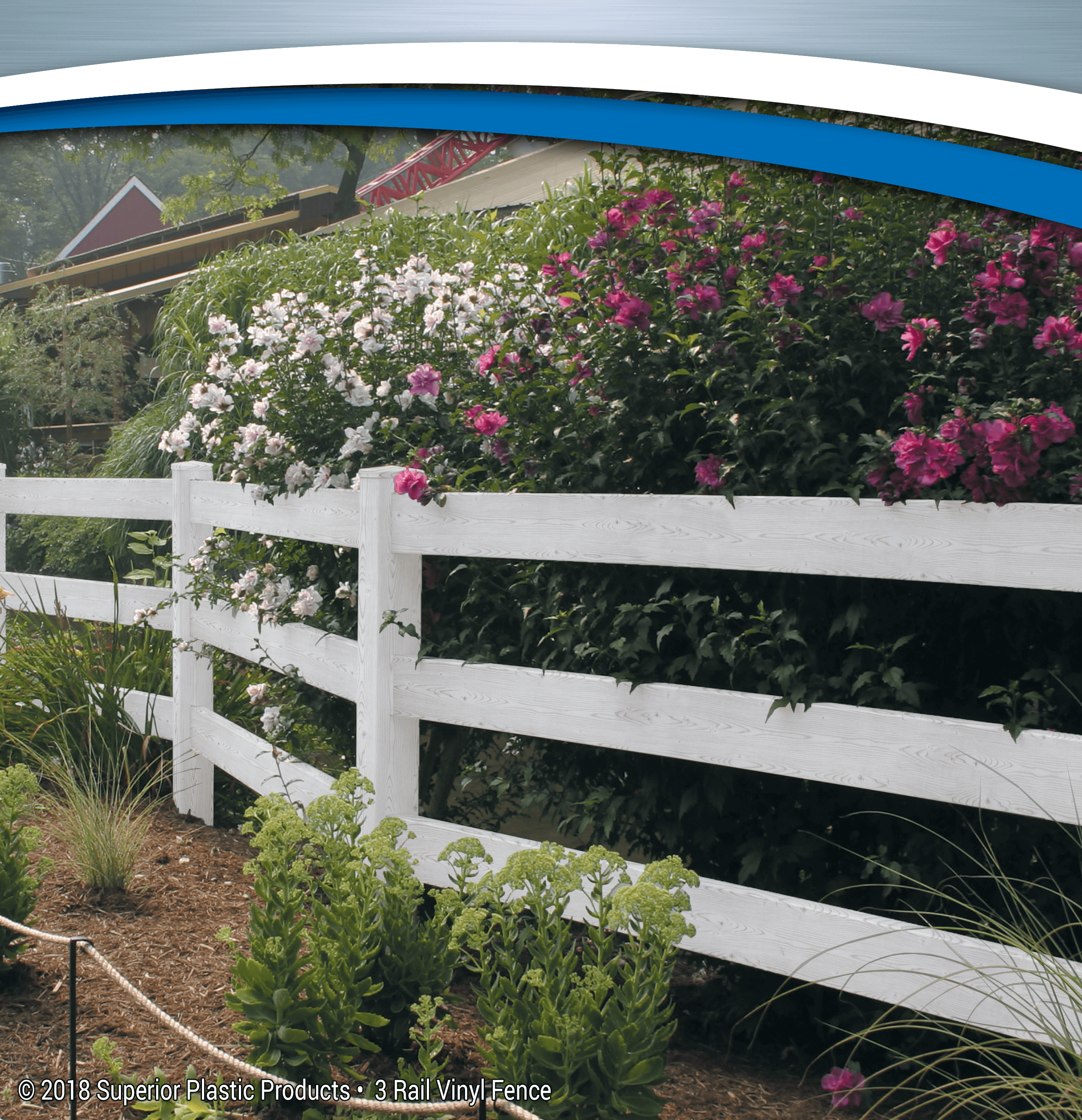 3 Rail Vinyl Fence - Superior Plastic Products