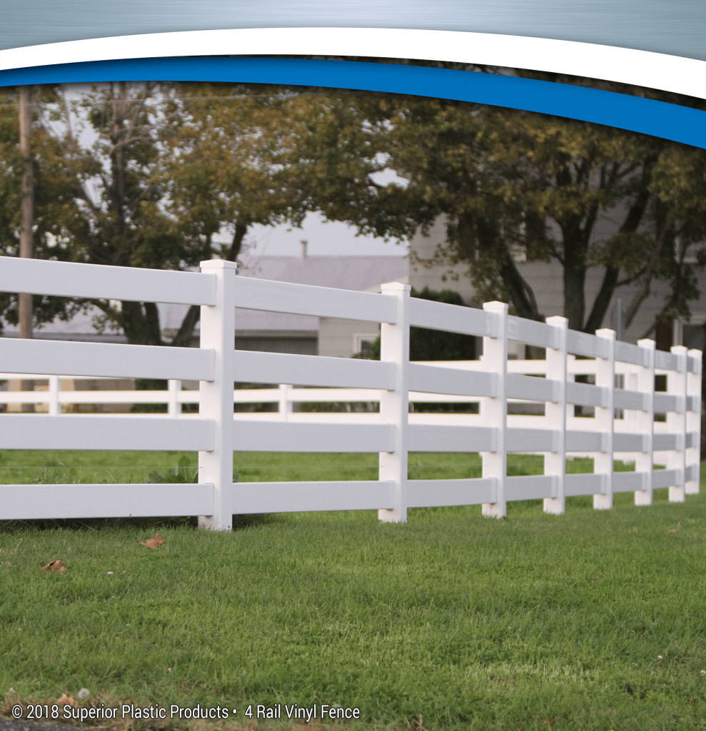 Low Maintenance 4 Rail Vinyl Fence Superior Plastic Products