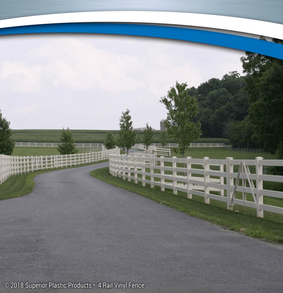 Low Maintenance 4 Rail Vinyl Fence Superior Plastic Products