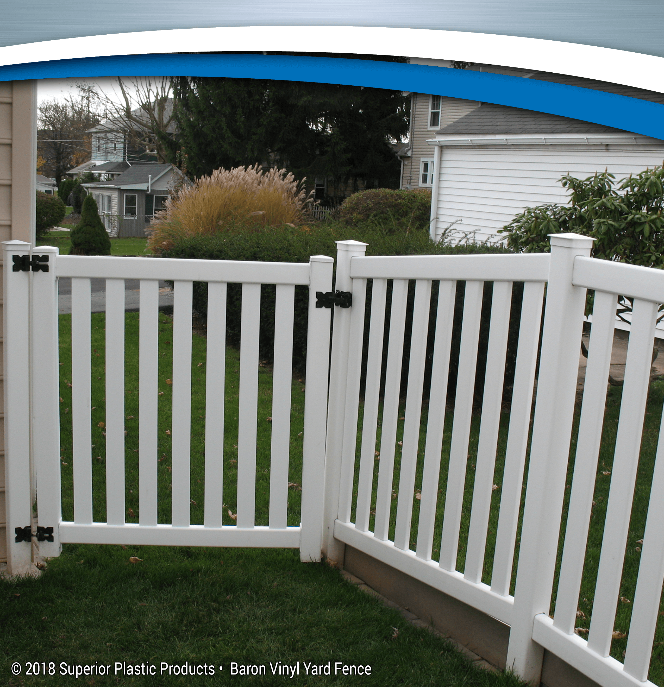 Baron Vinyl Yard Fence Superior Plastic Products