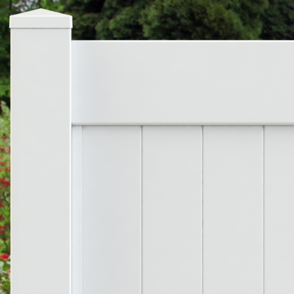 Vinyl solid picket fence Pvc Fence Great Falls Fence Cambridge Vinyl Privacy Fence Superior Plastic Products