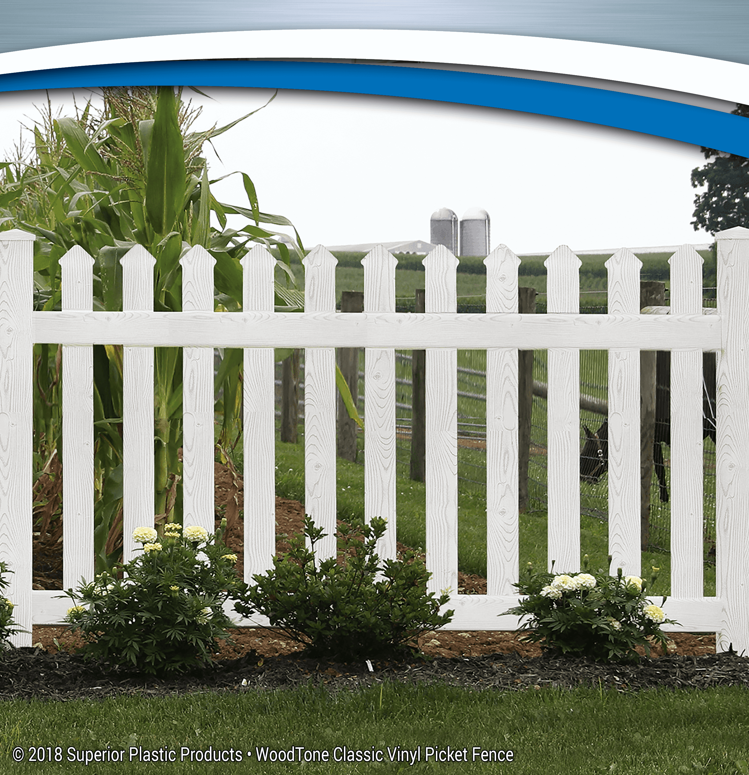 WoodTone Vinyl Fence - Superior Plastic ProductsClassic Vinyl Picket Fence - Superior Plastic Products