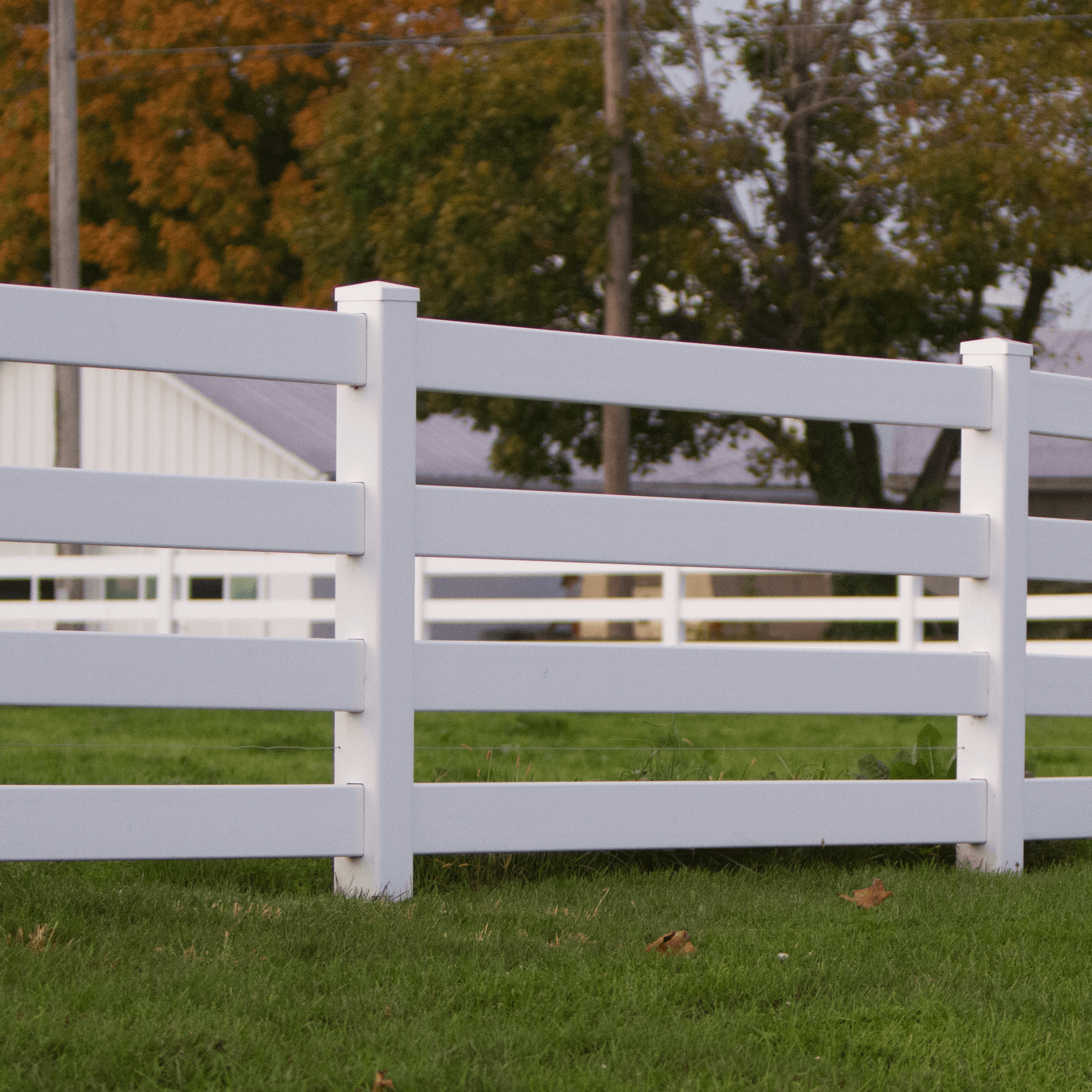 Vinyl Post & Rail Fencing - 4 Rail Vinyl Fence - Superior Plastic Products