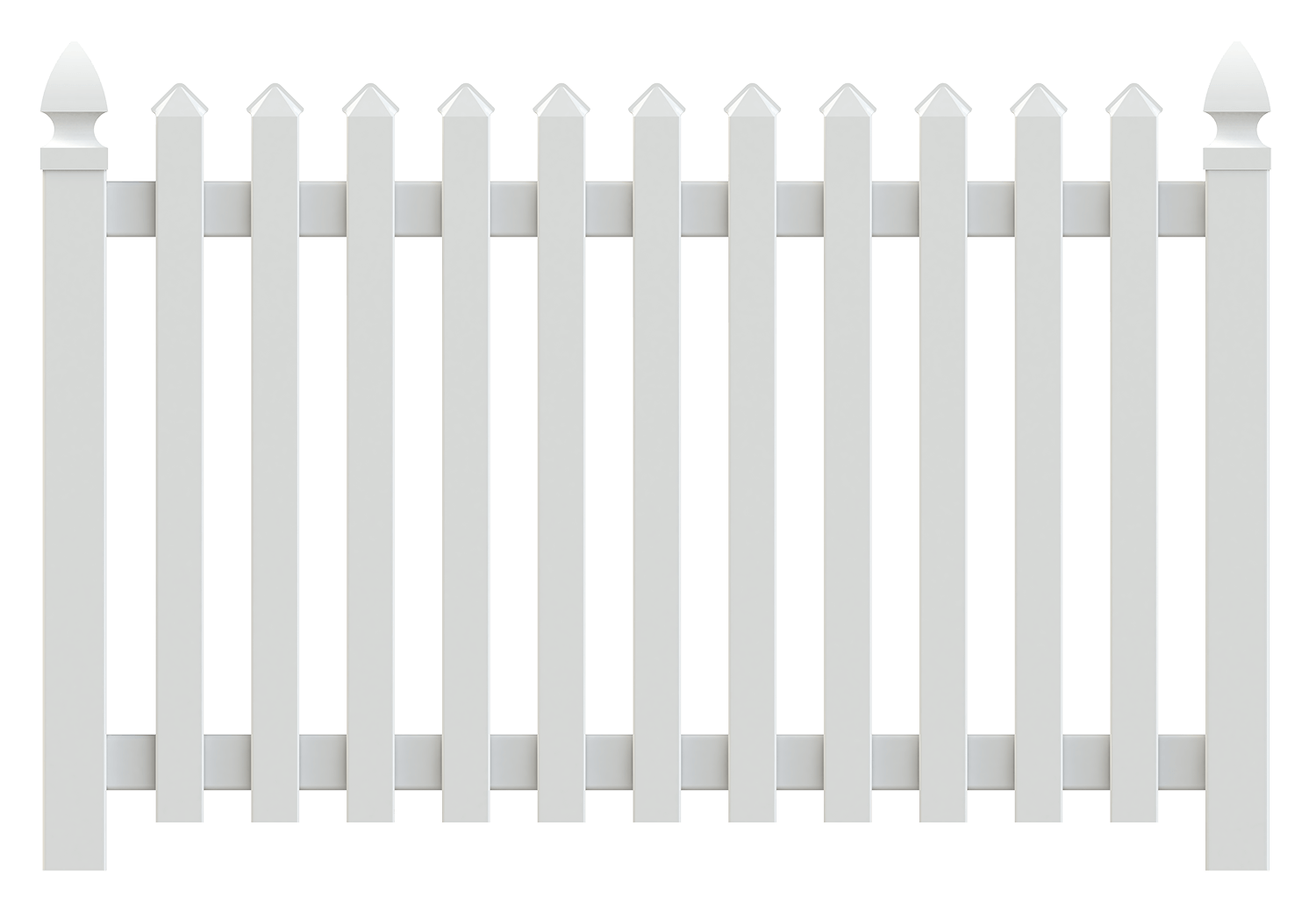 Deluxe Vinyl Picket Fence - Superior Plastic Products