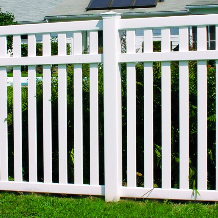 Baron Vinyl Yard Fence - Superior Plastic Products