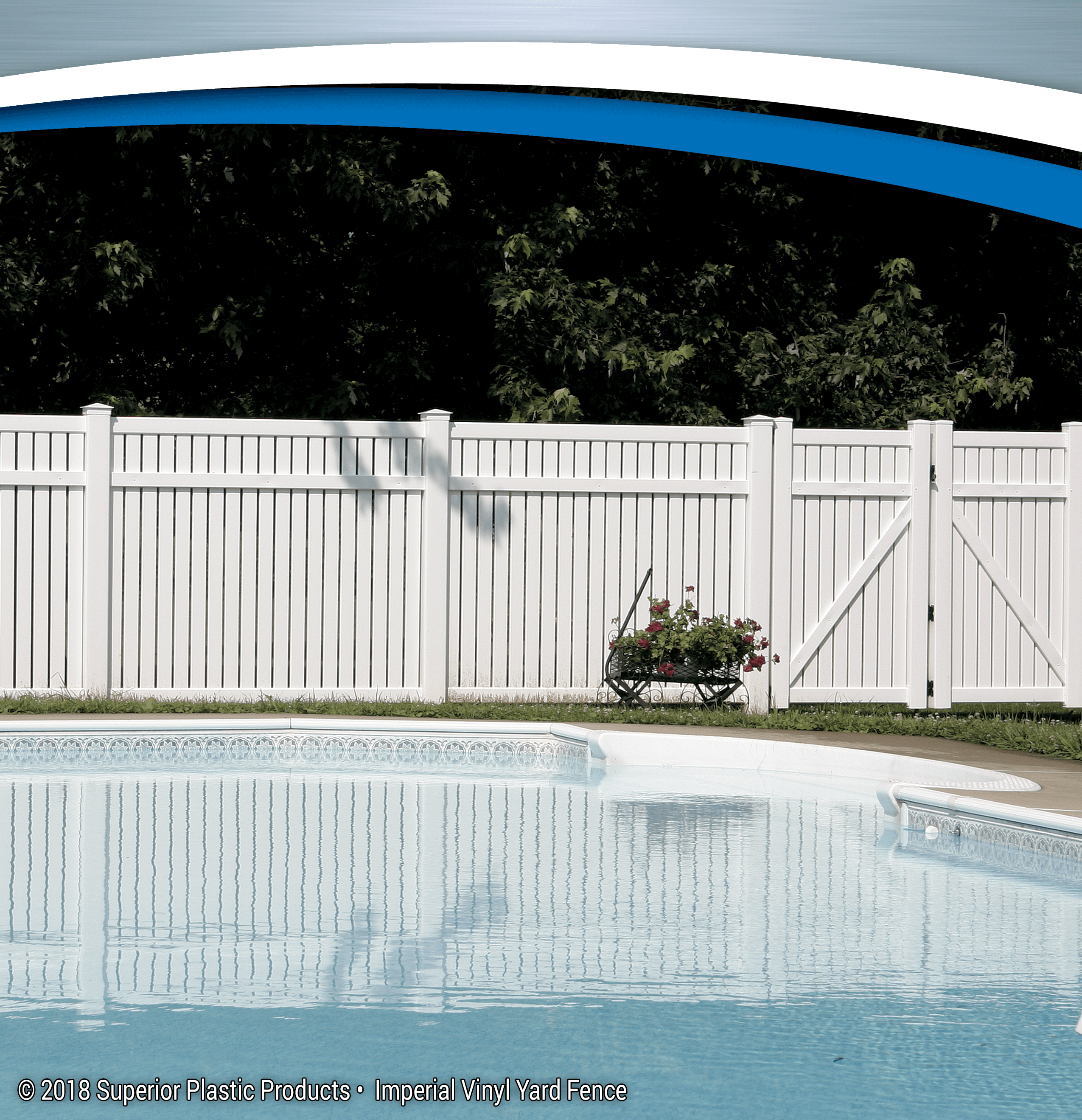 & Imperial Vinyl Yard Fence - Superior Plastic Products
