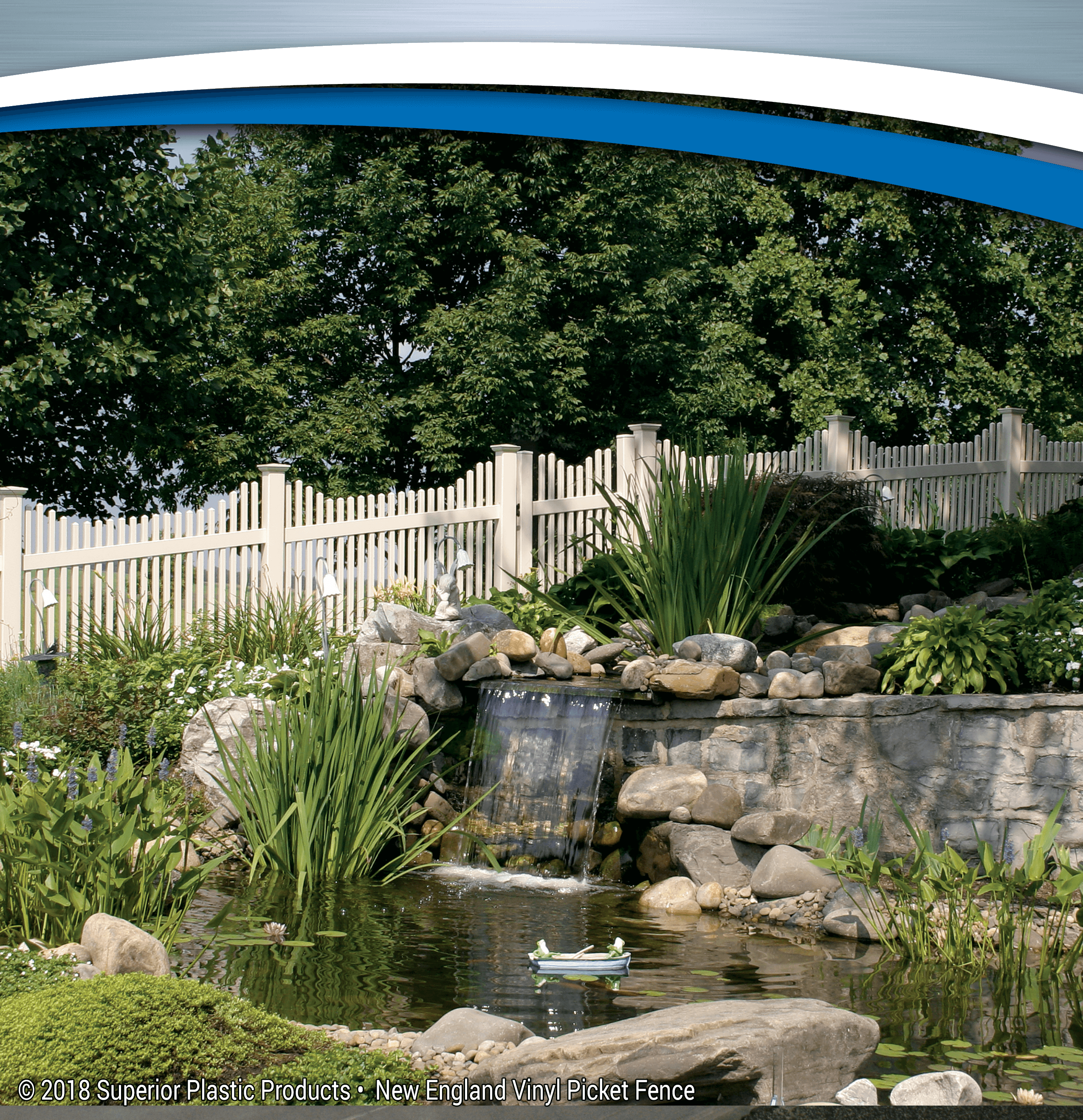 New England Vinyl Picket Fence - Superior Plastic Products
