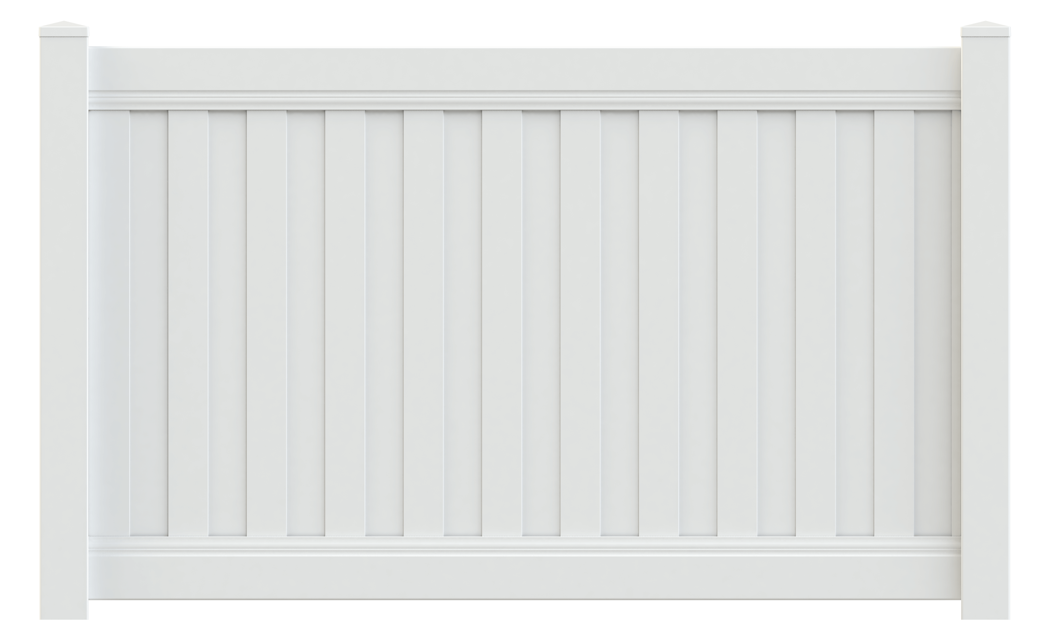 Newbury Vinyl Privacy Fence - Superior Plastic Products
