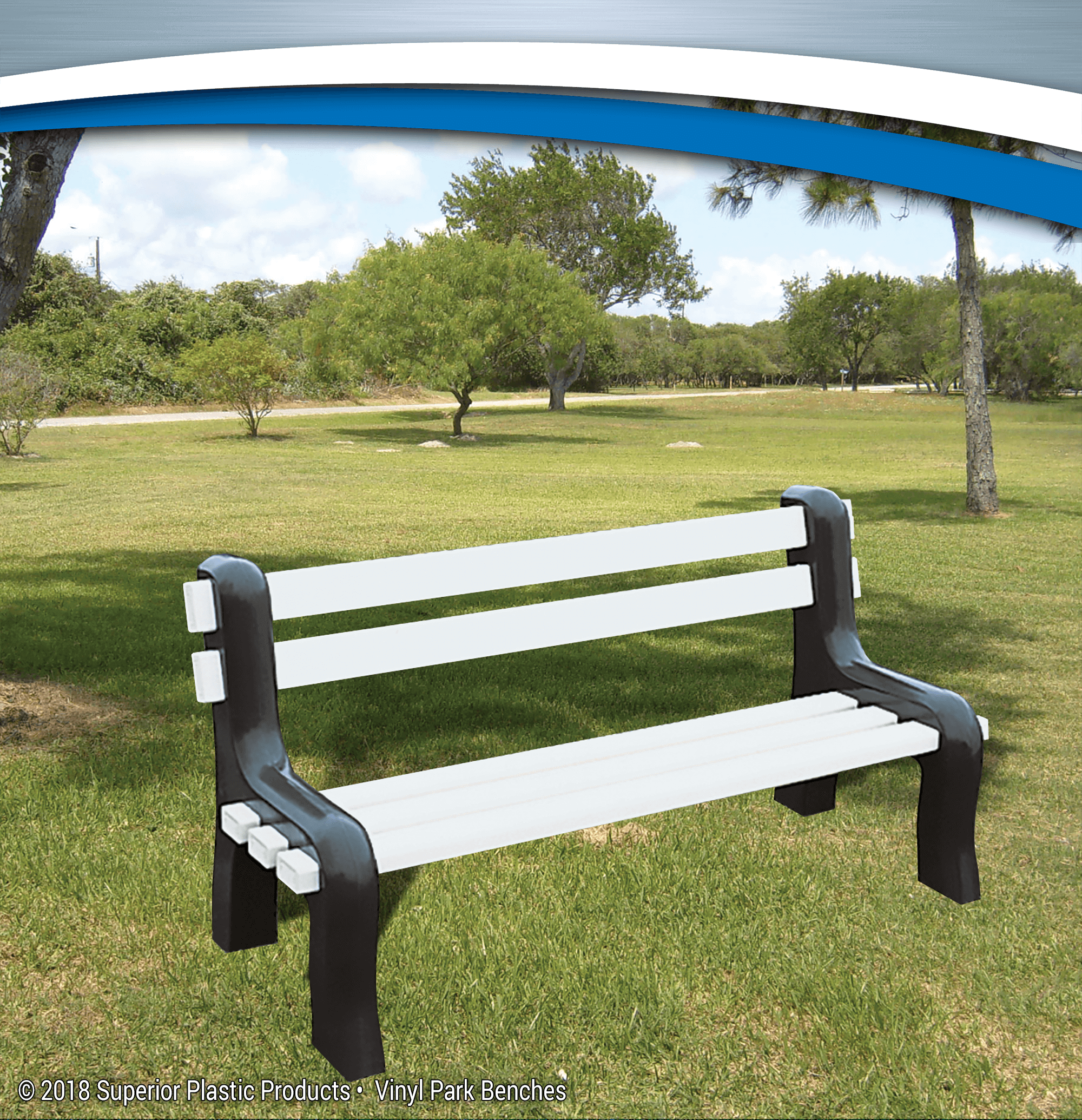 Durable Affordable Vinyl Park Benches Superior Plastic Products