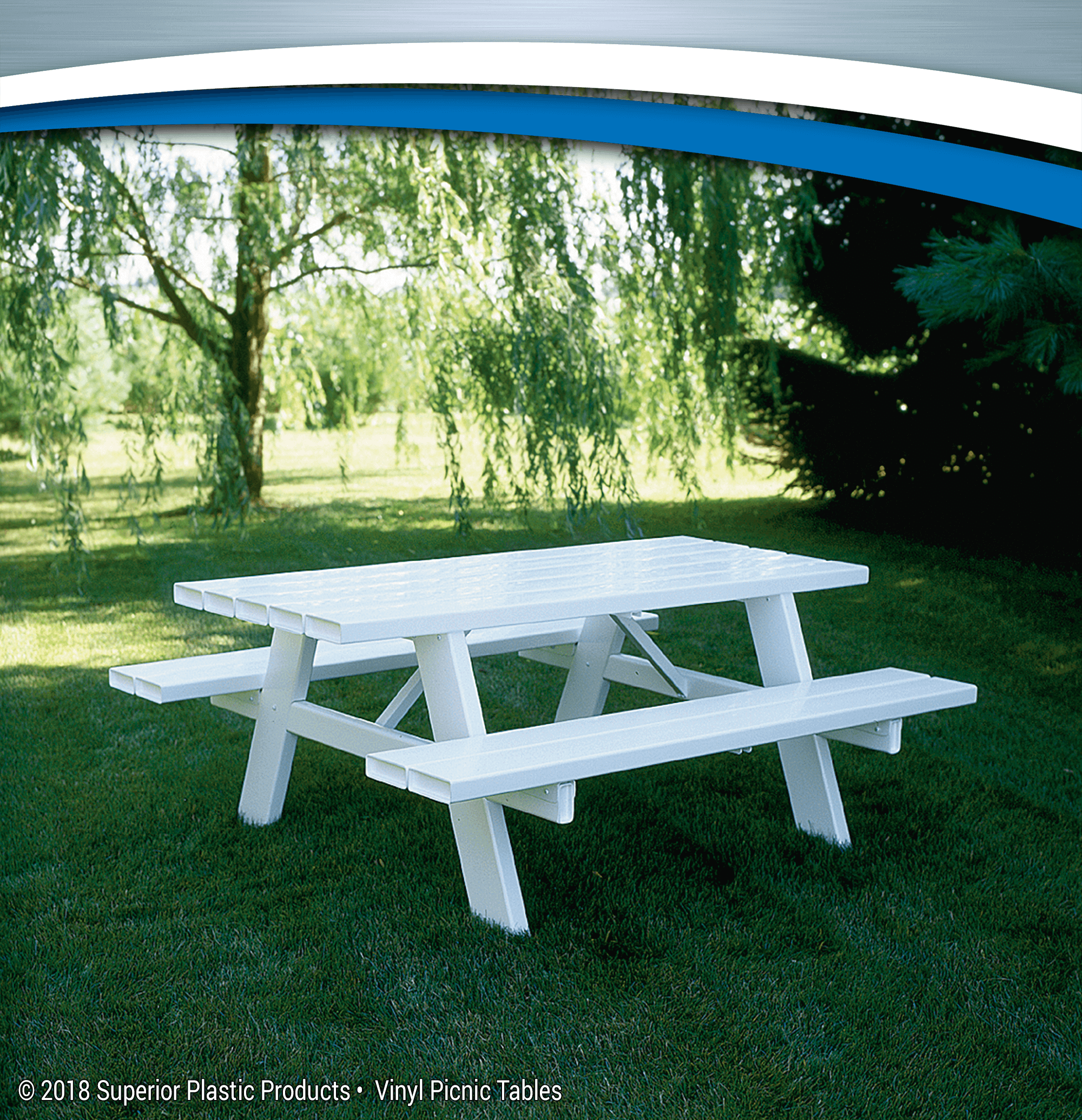 High Quality Vinyl Picnic Tables Superior Plactic Products - Ready to assemble picnic table