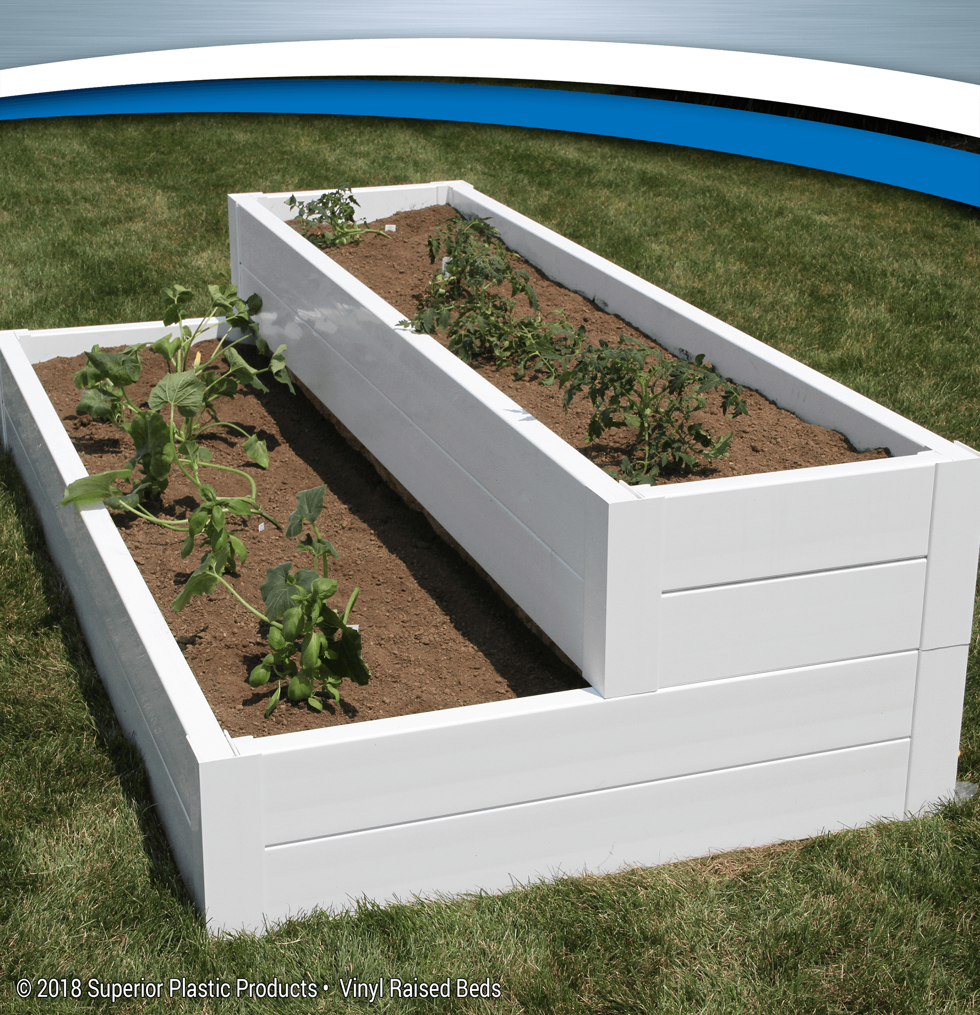 White Raised Beds
