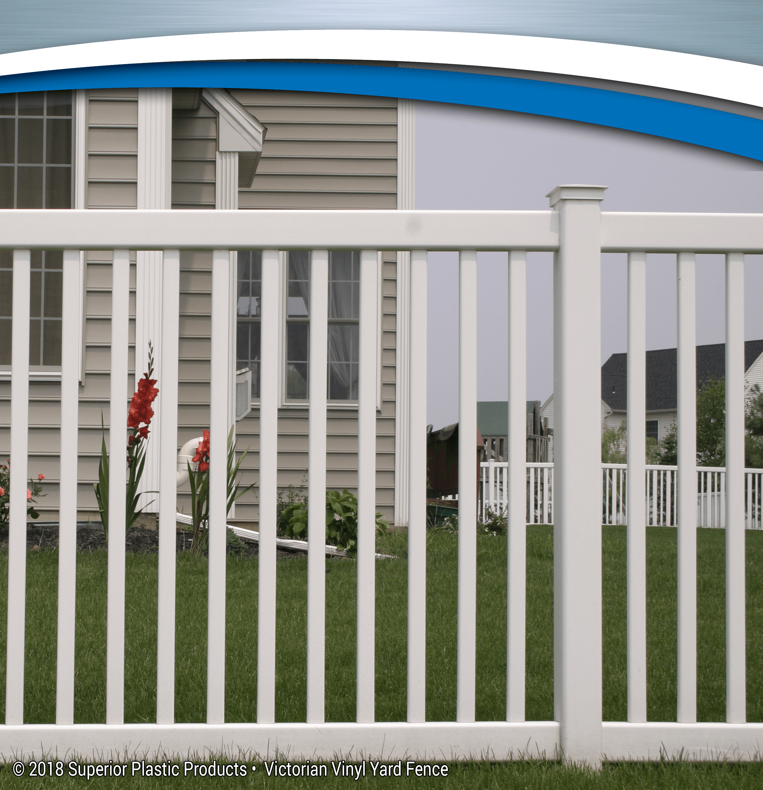 Victorian Vinyl Yard Fence - Superior Plastic Products