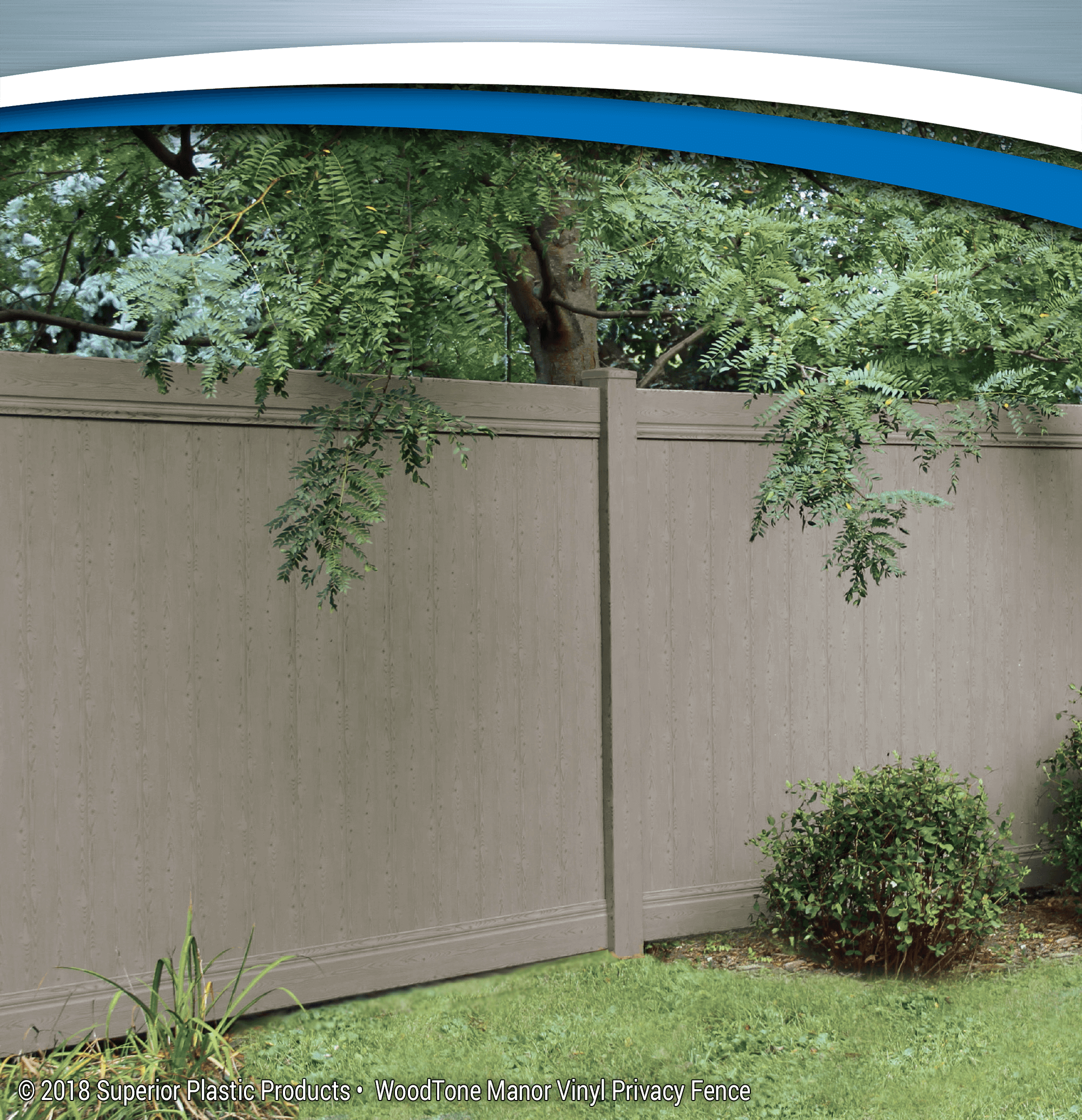 WoodTone Vinyl Fence - Superior Plastic Products Manor Vinyl Privacy Fence - Superior Plastic Products