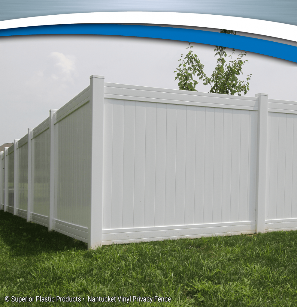 Nantucket Vinyl Privacy Fence Superior Plastic Products