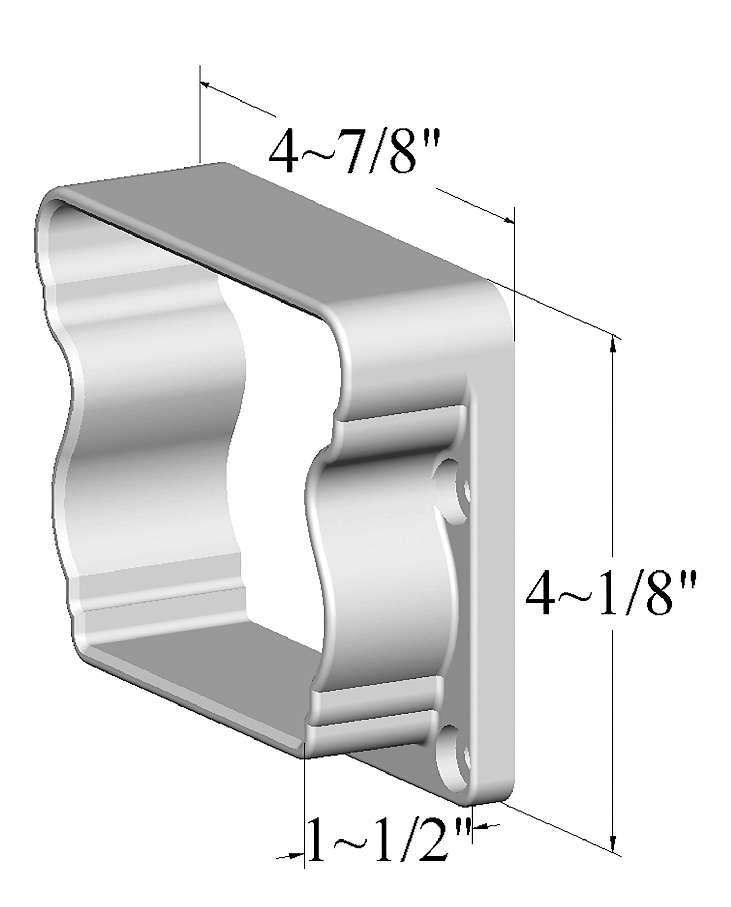 to bottom rail secure Bracket