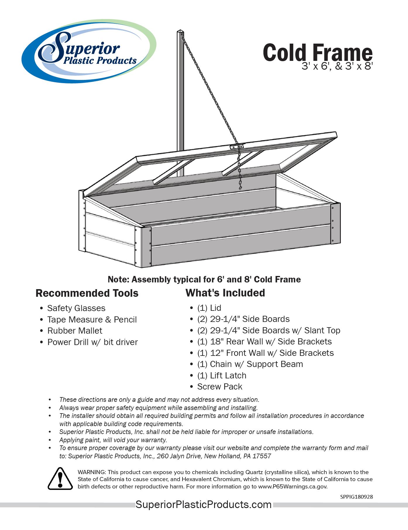 Low-Maintenance Vinyl Cold Frames - Superior Plastic Products